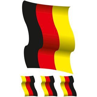 Herma Fensterdecor XL Deutschlandfahnen