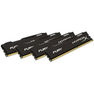 32GB HyperX FURY schwarz DDR4-2666 DIMM CL15 Quad Kit