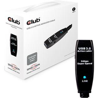 Club 3D USB Kabel 10 Meter aktiv bis zu 5 Gbps retail