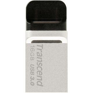 16 GB Transcend JetFlash 880 silber USB 3.0 und microUSB