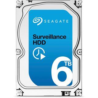 """6000GB Seagate Surveillance HDD ST6000VX0001 128MB 3.5"""" (8.9cm) SATA 6Gb/s"""