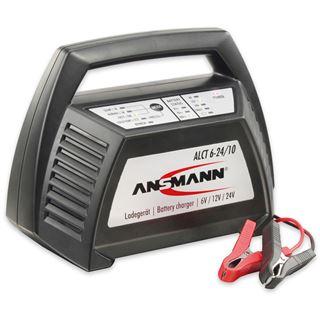 Ansmann ALCT 6-24/10, Ladegerät für Blei-Akkus 6V, 12V, 24V (1001-0014)
