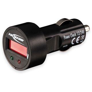 Ansmann PowerCheck12/24V, Batteriespannungstester für KFZ 12V/24V (1900-0019)