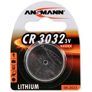 ANSMANN CR3032 Lithium Knopfzellen Batterie 3.0 V 1er Pack