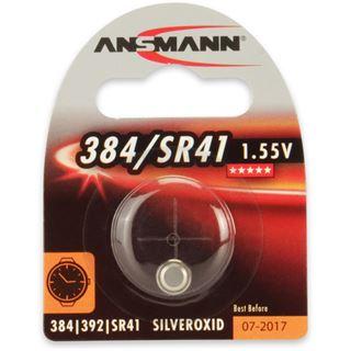 Ansmann Silberoxid-Knopfzelle, 1,55V, 384/SR41 (1516-0020), 1er-Blister