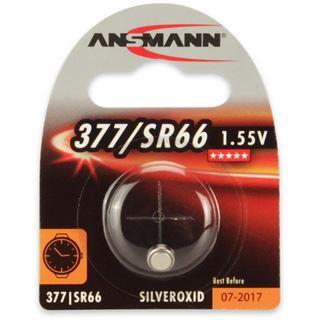 Ansmann Silberoxid-Knopfzelle, 1,55V, 377/SR66 (1516-0019), 1er-Blister