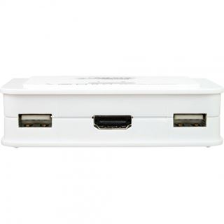 InLine KVM Switch, 2-fach, HDMI, USB, mit Audio, integr. Kabel