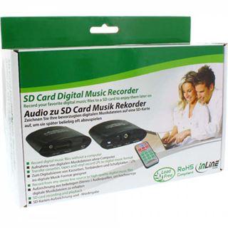 InLine Audio zu SD Rekorder, Eingang 3,5mm Klinke, auf SD/SDHC Karte