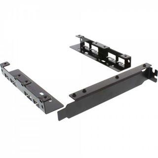 "InLine HDD Slotblech, 2x 6,35cm (2,5"") HDD zu PCI-Slot, mit Schraube"
