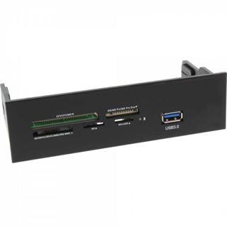 InLine Frontpanel für den DVD-Schacht, Cardreader, 1x USB 3.0