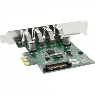 InLine 76661C 4 Port PCIe inkl. Low Profile Slotblech / Low Profile retail