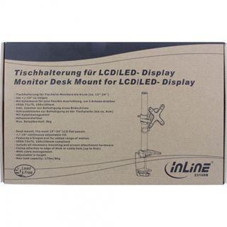InLine 23108B Tischhalterung schwarz/silber