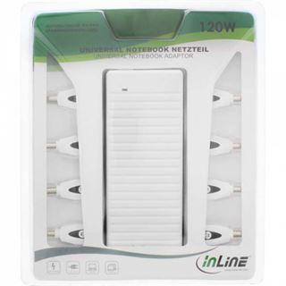 InLine Universal Netzteil für Notebooks, 120W, 100-240V, weiß mit 8 Wechselsteckern