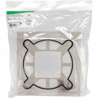 InLine Lüfteradapter, 200mm auf 140mm, für CPU-Kühler, schwarz transparent