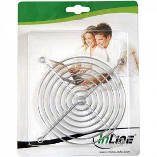 InLine Lüftergitter Metall, verchromt, 140x140mm