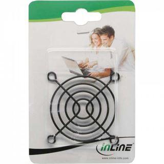 InLine Lüftergitter Metall, schwarz, 60x60mm