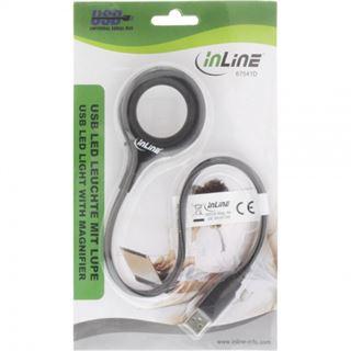 InLine USB-LED-Leuchte 18 LEDs Ein/Aus-Schalter Lupe