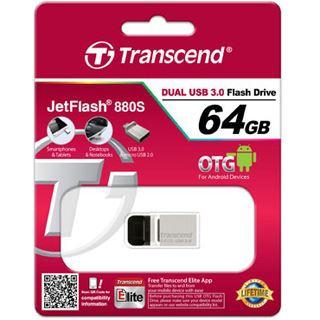 64 GB Transcend JetFlash 880 silber USB 3.0