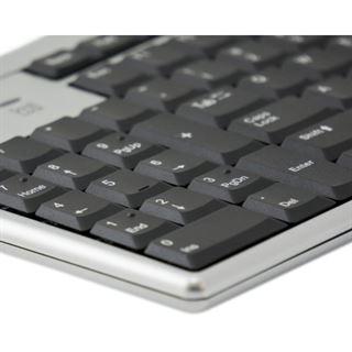 R-GO Tools Evoluent Linkshändertastatur PS/2 & USB Englisch (US) schwarz/silber (kabelgebunden)