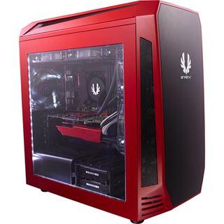 BitFenix Aegis mit Sichtfenster Mini Tower ohne Netzteil rot/schwarz
