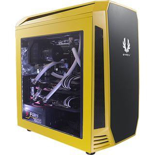 BitFenix Aegis mit Sichtfenster Mini Tower ohne Netzteil gelb/schwarz