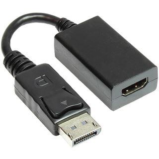 0.15m Good Connections Displayport 1.1a Adapterkabel Displayport Stecker auf HDMI-Buchse Schwarz