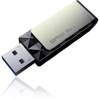 64 GB Silicon Power Blaze B30 schwarz/silber USB 3.0