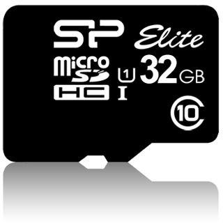 32 GB Silicon Power Elite microSDHC Class 10 Retail inkl. Adapter auf SD