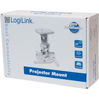 LogiLink Deckenhalterung Projektor 22cm -15kg weiß