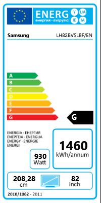 "82"" (208,28cm) Samsung 820DXn-2 schwarz 1920x1080 BNC/1xHDMI 1.3/1xVGA/2xDVI/1xComposite Video"