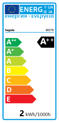 Segula LED Filament Windstoß 2W/23W Klar E14 A++