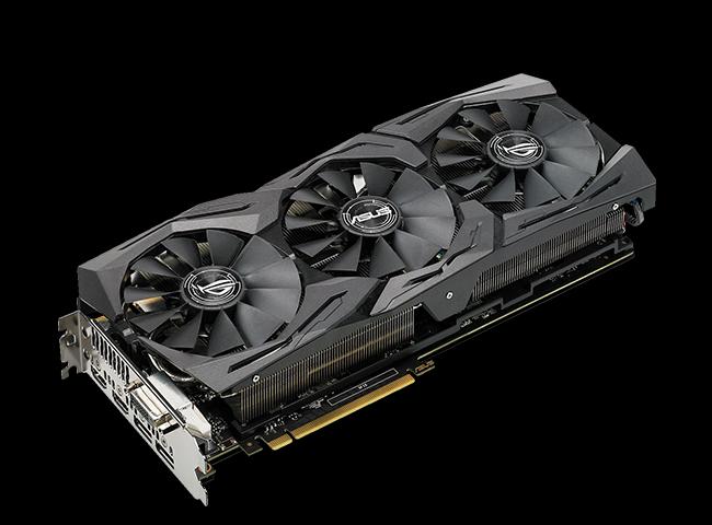8GB Asus GeForce GTX 1080 ROG Strix Gaming Advanced Aktiv PCIe 3.0 (Retail)